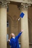 Gioia di graduazione Immagine Stock