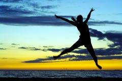 Gioia di tramonto. Fotografia Stock Libera da Diritti