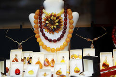 Gioielli ambrati Immagini Stock Libere da Diritti