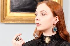 Gioielli biondi veneziani d'annata della donna, Immagine Stock Libera da Diritti