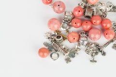 Gioielli casalinghi della perla immagini stock