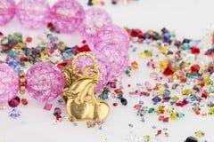 Gioielli casalinghi della perla immagine stock