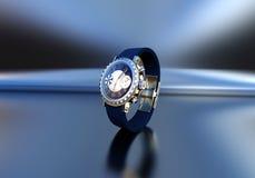 Gioielli costosi dell'orologio Fotografie Stock Libere da Diritti