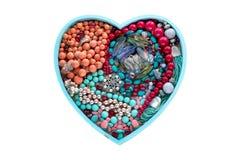 Gioielli decorativi del cuore per il cuore delle donne fotografia stock libera da diritti