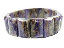 Gioielli del braccialetto della pietra preziosa di Charoite Fotografia Stock