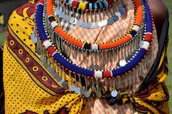 Gioielli del Masai Fotografia Stock