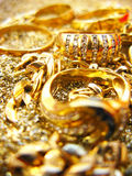 Gioielli dell'oro Fotografia Stock Libera da Diritti