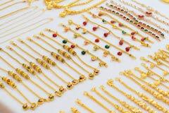 Gioielli dell'oro Immagini Stock