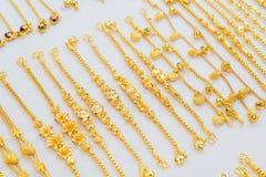 Gioielli dell'oro Fotografie Stock Libere da Diritti