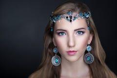 Gioielli della ragazza di bellezza Fotografia Stock Libera da Diritti