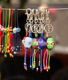 Gioielli delle perle di vetro Fotografia Stock Libera da Diritti