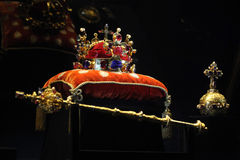 Gioielli di corona della Boemia a Praga, repubblica Ceca fotografia stock