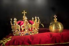 Gioielli di corona di re Fotografia Stock Libera da Diritti