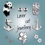 Gioielli di taglio del laser royalty illustrazione gratis