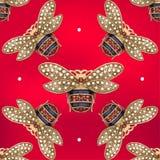 Gioielli di una mosca su un fondo rosso Immagine Stock Libera da Diritti