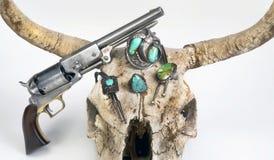 Gioielli e pistola navajo antichi Immagini Stock Libere da Diritti