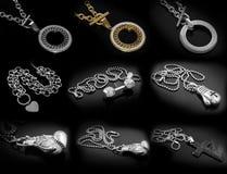 Gioielli - grande insieme delle collane Immagini Stock