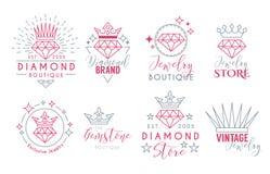 Gioielli Logo Set per lo stor dei gioielli Immagine Stock Libera da Diritti