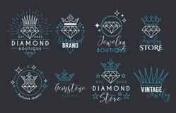 Gioielli Logo Set per lo stor dei gioielli Fotografia Stock Libera da Diritti