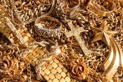 Gioielli misti dell'oro fotografia stock libera da diritti