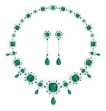 Gioielli verde smeraldo Immagine Stock