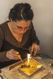 Fabbricazione dei gioielli Fotografia Stock