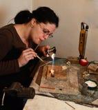 Fabbricazione dei gioielli Immagini Stock