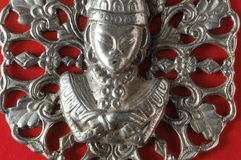 Gioiello d'argento del pendente di Buddha Immagini Stock Libere da Diritti