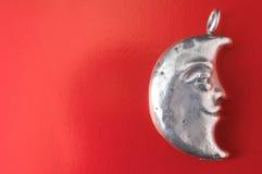 Gioiello dell'argento della mezza luna Fotografie Stock Libere da Diritti