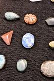 Gioiello prezioso della pietra della roccia dei semi Fotografia Stock