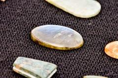 Gioiello prezioso della pietra della roccia dei semi Fotografia Stock Libera da Diritti