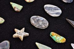 Gioiello prezioso della pietra della roccia dei semi Fotografie Stock