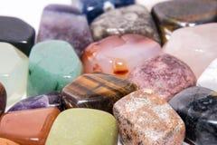 Gioiello variopinto 2 brillanti preziosi minerali della gemma della pietra preziosa della raccolta Fotografia Stock