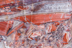 Gioiello variopinto di cristallo rosso molto 2 minerali della gemma della pietra preziosa di colore Fotografia Stock