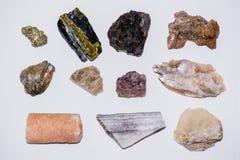 Gioiello variopinto molto 2 minerali della gemma della pietra preziosa di colore della raccolta Fotografie Stock Libere da Diritti