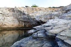 Giola - φυσική λίμνη στο νησί Thassos, Ελλάδα Στοκ Εικόνα