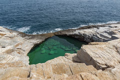 Giola Natural Pool in Thassos island, Greece Stock Photography