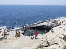 Giola, Natural Pool, Thassos Royalty Free Stock Photography