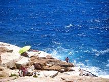Giola naturlig pöl i den Thassos ön, Grekland Royaltyfri Fotografi