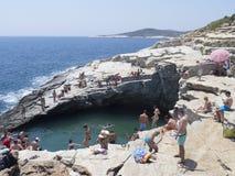 Giola, piscina natural, Thassos Imagen de archivo libre de regalías