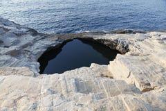 Giola - stagno naturale nell'isola di Thassos, Grecia Fotografia Stock Libera da Diritti