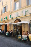 Giolitti ice creams. When people was eating ice creams at Giolitti in Roma in 2011 summer Stock Image