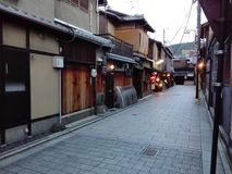 Gion区街道在京都 免版税库存照片