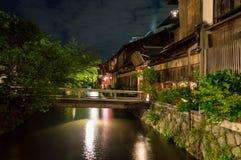 Gion区,京都 免版税库存照片