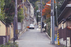 Gion地区在京都,日本 免版税库存图片