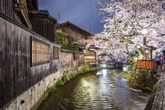 Gion, Киото, Япония Стоковые Изображения RF