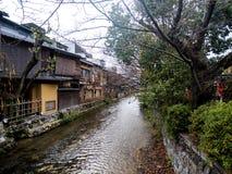 Gion Canal di giorno fotografia stock libera da diritti