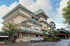 Gion Corner in Kyoto. KYOTO, JAPAN - OCTOBER 20: Gion Corner in Kyoto, Japan on October 20, 2014. A place where people can see Japan's traditional performing Royalty Free Stock Photo