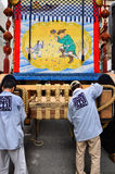 Gion festival, building the floats by rope work, Kyoto Japan. Stock Photo