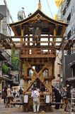 Gion festival, building the floats by rope work, Kyoto Japan. Stock Photos